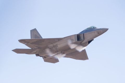 Airplane, Aircraft, Military aircraft, Air force, Fighter aircraft, Lockheed martin f-22 raptor, Vehicle, Aviation, Mcdonnell douglas f-15 eagle, Flight,