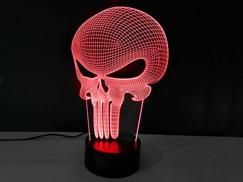 Head, Light, Skull, Bone, Lamp,