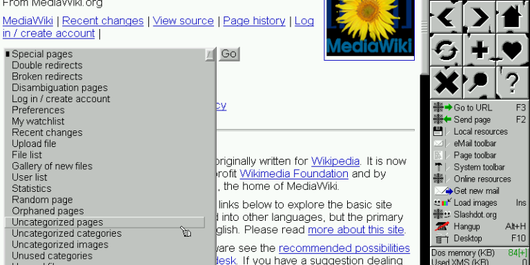 The Weird, Stripped-Down Web Browsers of MS-DOS