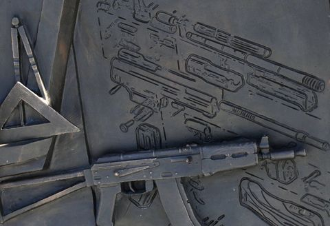 Oops Statue Of Russian Ak 47 Inventor Accidentally Features German