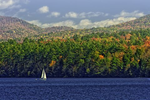 "<p><strong data-redactor-tag=""strong"">Best leaf-peeping drive:</strong> Travel past farmland <a href=""http://www.vermontvacation.com"" target=""_blank"">surrounded by shining lake waters</a> and mountain vistas. Follow route 2 along the islands in the middle of Lake Champlain from Alburg to South Hero. Or start your trip by taking the ferry in either direction from Plattsburgh, New York to Grand Isle, Vermont.</p><p><strong data-redactor-tag=""strong"">What else to do:</strong> Enjoy a stroll on one of the longest beaches on Lake Champlain at <a href=""http://www.vtstateparks.com/htm/alburg.htm"">Alburgh Dunes State Park</a>, or venture back 480 million years in time at the <a href=""http://www.ilmpt.org/ilmpt/The_Chazy_Reef_on_Isle_La_Motte.html"">Chazy Fossil Reef</a> and <a href=""http://www.ilmpt.org/ilmpt/Fisk_Quarry_Preserve.html"">Fisk Quarry Preserve</a>, a site first quarried in 1664 by the French. Picnic at the serene grounds of <a href=""http://www.saintannesshrine.org/"">St. Anne's Shrine</a>, once site of Samuel Champlain's explorations in 1609. </p><p><strong data-redactor-tag=""strong"">Where to stay: </strong>The boutique <a href=""http://hotelvt.com/home"">Hotel Vermont</a> with its rustic yet chic decor in downtown Burlington is close to nearby eateries on Church Street. Reserve one of the dog-friendly rooms ahead of time.</p>"