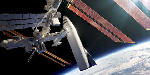 Image result for starship and ISS