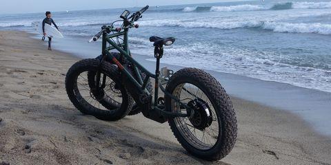Vehicle, Automotive tire, Tire, Beach, Bicycle wheel, Sea, Sand, Coast, Shore, Wheel,