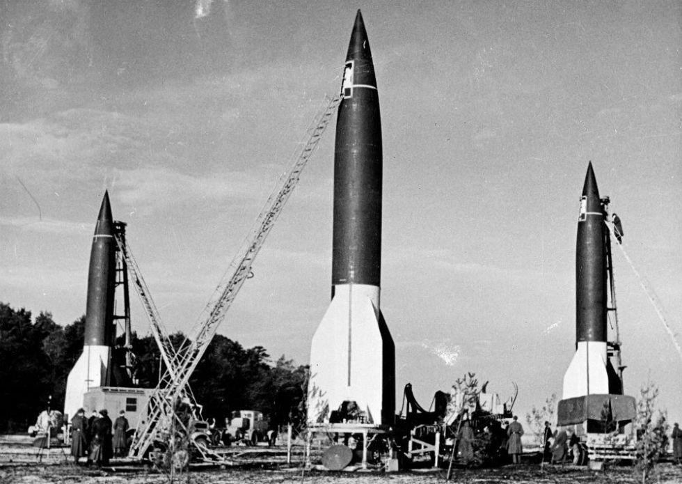 Local de lançamento de foguetes V-2 alemães.