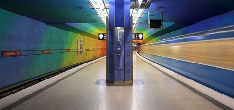 "<p>Bright and cheery colors highlight the Candidplatz Station on Munich's U-Bahn. Named after the 16th-century Flemish painter, the station blankets every aspect of the station in a never-ending flow color. The modern, bright station is far from the line's only appealing stop. The U-Bahn also features the <a href=""https://en.wikipedia.org/wiki/St.-Quirin-Platz_(Munich_U-Bahn)"" data-tracking-id=""recirc-text-link"">St. Quirin Platz Station</a> with as much natural light as you could dream of while staying underground.<span class=""redactor-invisible-space"" data-verified=""redactor"" data-redactor-tag=""span"" data-redactor-class=""redactor-invisible-space""></span></p>"