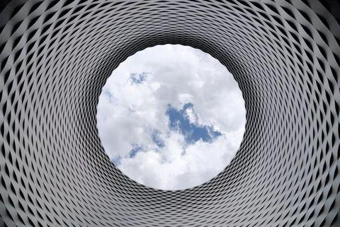 Circle, Symmetry, Sky, Architecture, Design, Pattern, Monochrome, Space,