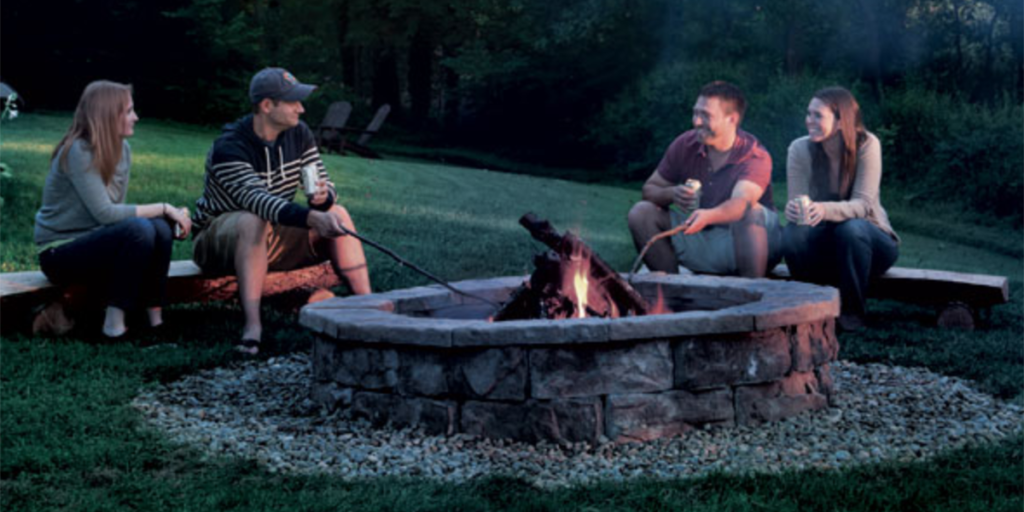 Beau With This Masonry Fire Pit Plan, You Can Skip The Concrete And Mortar.  Instead, Use That Time To Build Our Rustic Log Benches. Youu0027ll Be Sitting  Around A ...