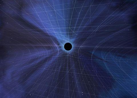Black Hole Warping Spacetime