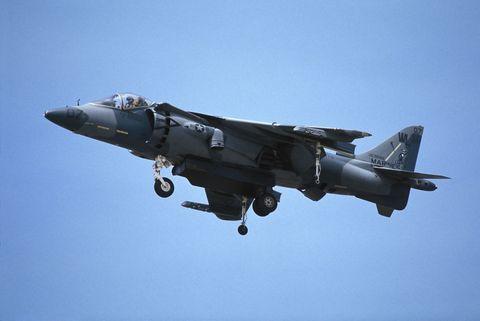 Airplane, Aircraft, Aviation, Air force, Vehicle, Mcdonnell douglas av-8b harrier ii, Military aircraft, Flight, Ground attack aircraft, Jet aircraft,