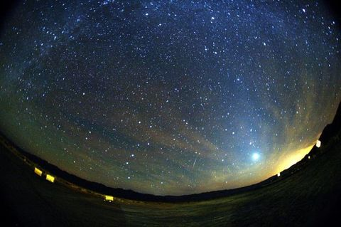 Sky, Night, Astronomical object, Galaxy, Fisheye lens, Photography, Space, Star, Outer space, Astronomy,
