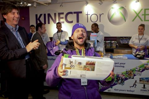 first kinect sale