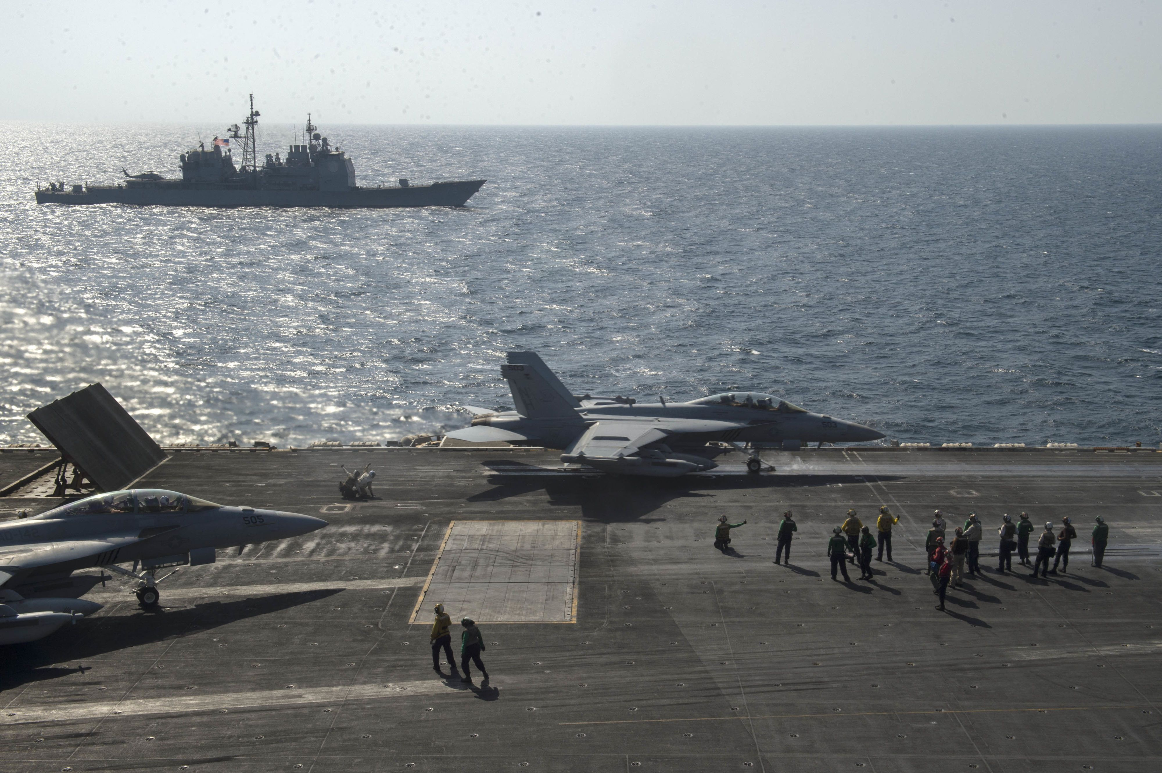 Three Carrier Strike Groups Are Now Operating in the Pacific