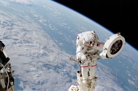 Astronaut, Outer space, Space station, Satellite, Astronomical object, Space, Atmosphere, Sky, Earth, Spacecraft,