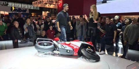 Someone Knocked Over Ducati's Ultra-Expensive V4 Superbike