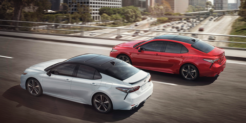 <p>Shocked to see a Camry on this list? So are we. But the optional V6 makes over 300 horsepower, and that Toyota reliability means you'll never have to worry about breaking something down the line. </p>