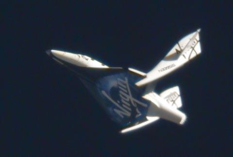 SpaceShipTwo tail booms