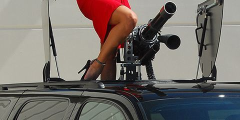 Pop Up Roof Mounted Gatling Gun Is Latest In Auto Safety