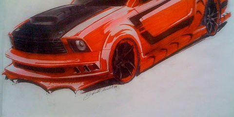 Kick-Ass Mustang Concept Sketch