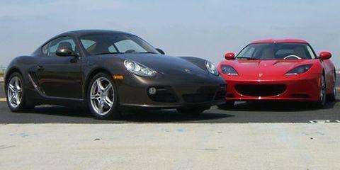 Porsche Cayman S And Lotus Evora Pictures