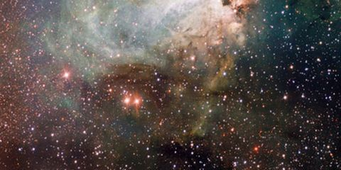 Nature, Brown, Outer space, Green, Astronomical object, Atmosphere, Astronomy, Star, Nebula, Galaxy,