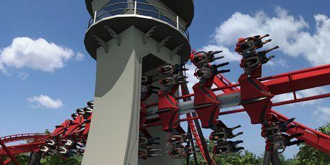 Six Flags Great America's X-Flight
