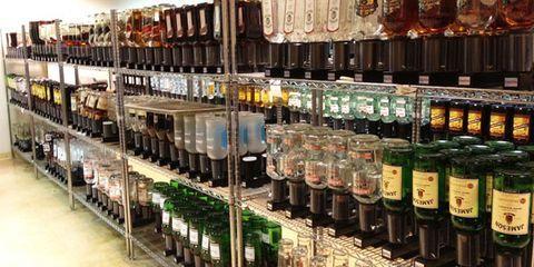 Bottle, Liquid, Retail, Bottle cap, Collection, Alcohol, Glass bottle, Drink, Shelving, Distilled beverage,