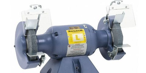 Bench Grinders Are Nothing More Than A Horizontal Motor With A Spindle At  Each End. They Can Sharpen A Woodworking Chisel Or A Chipped Lawnmower  Blade, ...