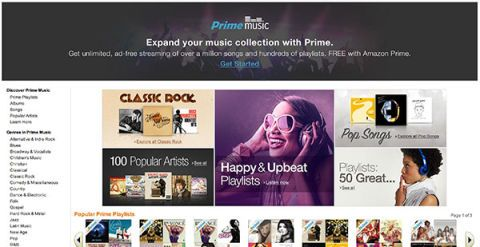 does amazon music come with prime