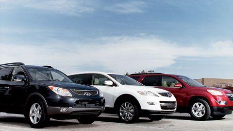 Hyundai Veracruz, Mazda CX-9 and Saturn Outlook