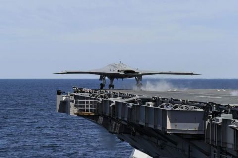 X-47B Completes a Carrier Takeoff