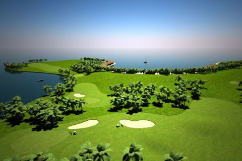Floating Golf Course, The Maldives
