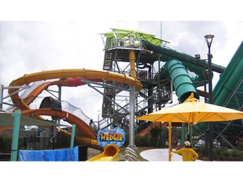 the wedgie at whitewater world dreamworld coomera australia