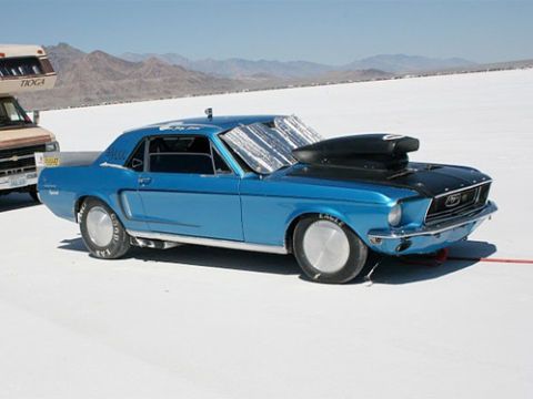 Could this be one of the very rare California Mustangs? If it is then it would surely be the fastest of the 4118 that were built back in 1968.