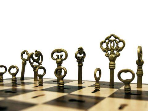 8 Skeleton Key Chess Set The 9 Bizarrely Beautiful DIY Sets.
