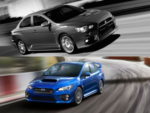 Mitsubishi Lancer Evolution vs. Subaru WRX STi