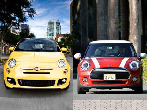 Fiat 500 vs. Mini Cooper Hardtop