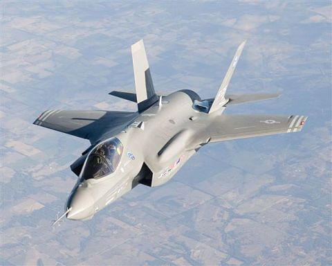 The Air Force's A-1 model of Lockheed's stealth F-35 fighter jet has been flying for more than a year, but the Marines' next-gen F-35B took off for the first time today.