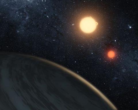 Artist's impression of Kepler-16.