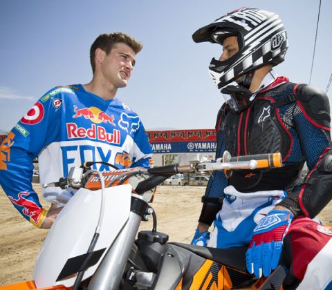 Riding With Red Bull Motocross Superstars Is Like Finger Painting with Picasso
