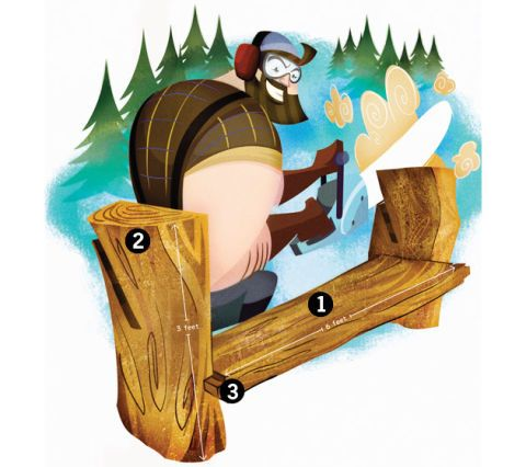 Build A Bench With Logs And Chainsaw Pm Saay