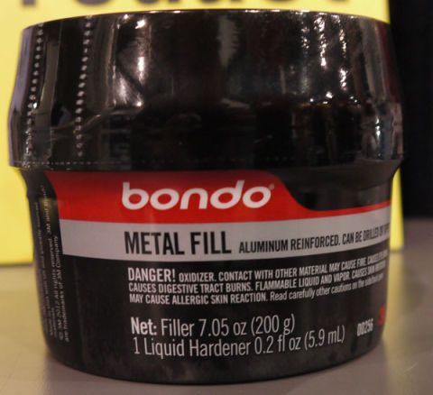 Bondo Metal Fill