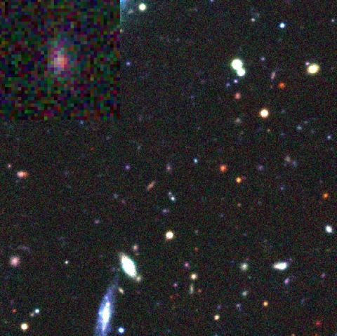 Canada-France-Hawaii-Telescope (CFHT) image of the field before the supernova.