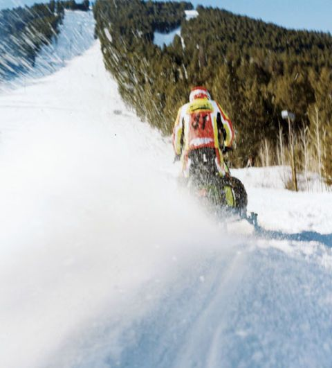 World Championship Snowmobile Hill Climb