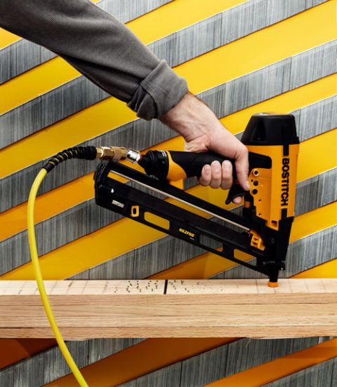 "<p>Nailers fire nails on contact with unbelievable power. Designed to punch through shingles and flooring in an instant, we shudder to think of what it would do to your body. </p><p><a href=""http://www.popularmechanics.com/home/tools/reviews/g178/finish-nailer-face-off-we-test-the-top-10/"">Top 10 Finish Nailers</a></p>"