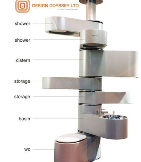 vertebrae vertical bathroom