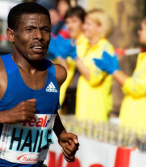 haile running a marathon