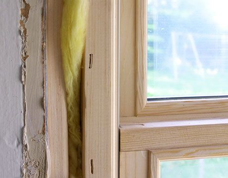 insulation around a window frame