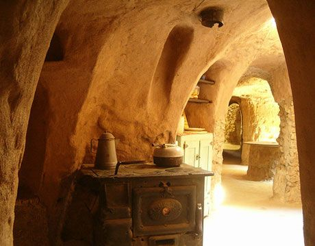 Underground Cave Home. kitchen cave home at forestiere underground gardens fresno Cave Homes  Houses Living in Caves