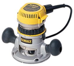 Router reviews comparison test of fixed base routers dewalt dw618 dewalt uses a body ring to engage threads on the motor housing and thereby adjust bit depth this is a slower process than the twist adjustment keyboard keysfo Images
