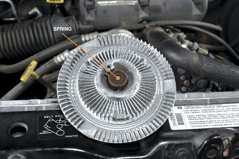 duramax fan clutch removal direction